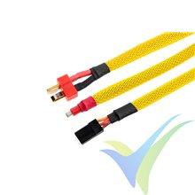 Manguito de malla amarillo para protección de cables, 6mm, 1m