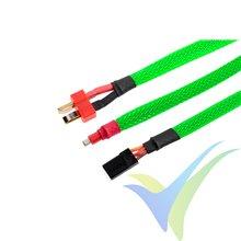 Manguito de malla verde neón para protección de cables, 6mm, 1m