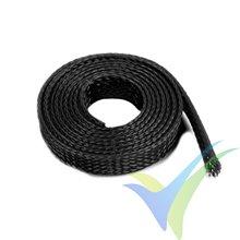 Manguito de malla negro para protección de cables, 8mm, 1m