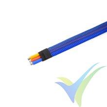 Manguito de malla azul para protección de cables, 8mm, 1m