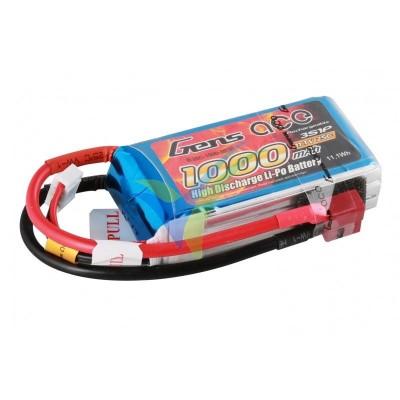 Batería LiPo Gens ace 1000mAh (11.1Wh) 3S1P 25C 96g