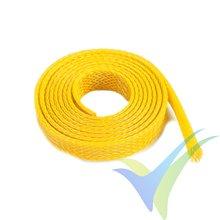 Manguito de malla amarillo para protección de cables, 8mm, 1m