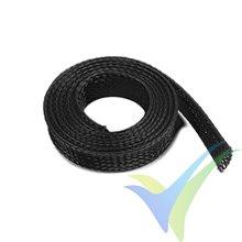 Manguito de malla negro para protección de cables, 10mm, 1m