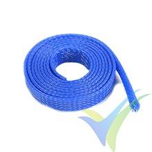 Manguito de malla azul para protección de cables, 10mm, 1m