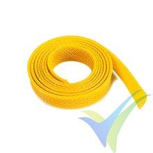 Manguito de malla amarillo para protección de cables, 10mm, 1m