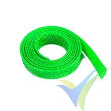 Manguito de malla verde neón para protección de cables, 10mm, 1m
