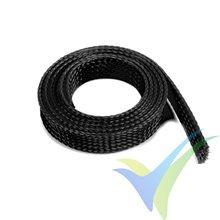 Manguito de malla negro para protección de cables, 14mm, 1m