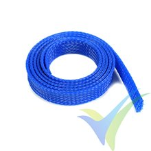 Manguito de malla azul para protección de cables, 14mm, 1m