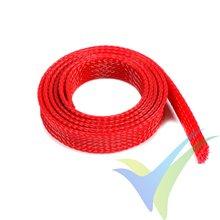 Manguito de malla rojo para protección de cables, 14mm, 1m