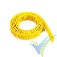 Manguito de malla amarillo para protección de cables, 14mm, 1m