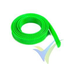 Manguito de malla verde neón para protección de cables, 14mm, 1m