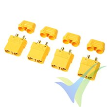 Conector XT90 con capuchón aislante, metalizado oro, hembra, G-force, 4 uds