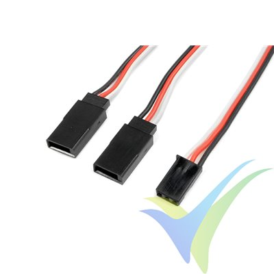 Cable Y 15cm para servo Futaba, 0.33mm2 (22AWG) 60 venillas, G-Force