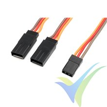 Cable Y 15cm para servo JR/Hitec, 0.33mm2 (22AWG) 60 venillas, G-force