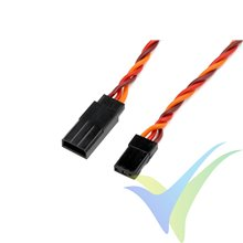 Prolongador trenzado silicona cable servo JR/Hitec 20cm, 0.33mm2 (22AWG) 60 venillas, G-Force