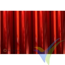 Oracover Oralight rojo claro translúcido 1m x 60cm