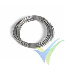 Cable acero trenzado Ø1.5mm para transmisión mando bowden, 2m