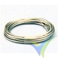 Cable acero trenzado Ø1.9mm para transmisión mando bowden, 2m