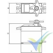 Servo digital Graupner DES 281 BB MG, 8.5g, 4.08Kg.cm, 0.15s/60º, 4.8V-6V
