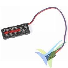 Batería receptor Ni-MH 120mAh, 4.8V, Graupner 4N-1000 1/3 AAA, 18g