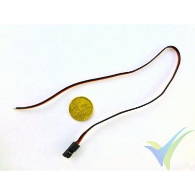 Repuesto de cable de servo 30cm, 0.13mm2 (26AWG), con conector FUTABA