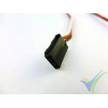 Repuesto de cable de servo Futaba - conector macho - 30cm, 0.13mm2 (26AWG), con conector Futaba