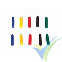 Capuchón silicona Graupner para interruptor emisora, colores surtidos largo, 10 uds
