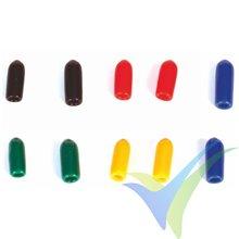 Capuchón silicona Graupner para interruptor emisora, colores surtidos corto, 10 uds