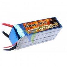 Gens ace LiPo Battery 2600mAh (57.72Wh) 6S1P 25C 421g