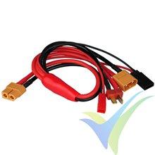 Cable de carga 4 en 1, Deans, XT60, Rx, JST BEC, entrada XT60 hembra