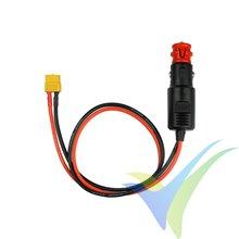 Cable de alimentación cargador, conector encendedor coche 180W a XT60 hembra