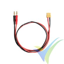Power supply cable for charger, banana male 4mm to XT60 female