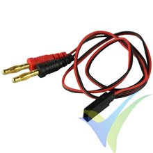 Cable de carga 0.75mm2 para batería receptor, conector universal dorado, 30cm