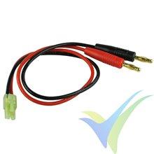 Cable de carga con conector Tamiya mini, 1.5mm2, 30cm