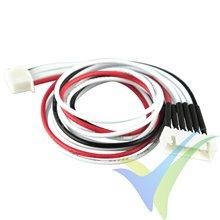 Prolongador cable equilibrado JST-XH para LiPo 5S, 30cm