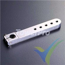 Brazo servo aluminio Tower Pro MJ2.0H5T, 7g, 61x9x5mm, para JR/Spektrum, 23T