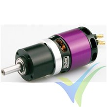 Motor brushless Hacker A30-12L V2 6 polos + reductora 6.7:1, 196g, 667W, 2800Kv