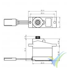 Savox SH-0257MG digital servo, 14g, 2.2Kg.cm, 0.09s/60º, 4.8V-6V