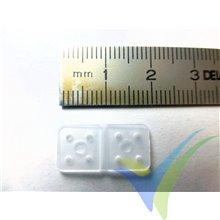 Bisagra nylon flexible G-Force, pequeña, 10 uds