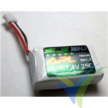 Batería LiPo SLS APL 180mAh (1.33Wh) 2S1P 25C 12g PHR 2