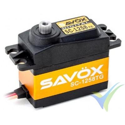 Servo digital Savox SC-1258TG, 52.4g, 12Kg.cm, 0.08s/60º, 4.8V-6V