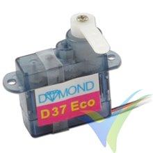 Servo analógico Dymond D-37 ECO, 3.7g, 0.41Kg.cm, 0.12s/60º, 4.8V