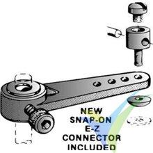 Brazo de mando nylon 32mm Dubro 155 para tren delantero 4mm, 5g