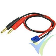 Cable de carga 1mm2 con conector EC2, 30cm