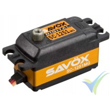 Servo digital Savox SC-1251MG - Low Profile, 44.5g, 9Kg.cm, 0.09s/60º, 4.8V-6V