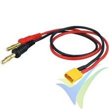 Cable de carga 1mm2 con conector XT30, 30cm