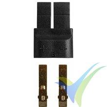 Conector compatible TRAXXAS macho, metalizado oro, 1 ud