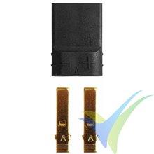 Conector compatible TRAXXAS hembra, metalizado oro, 1 ud