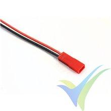 Conector JST BEC macho con cable silicona ya crimpado de 30cm, 0.5mm2