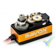 Servo digital Savox SC-1251MG - Low Profile, 44.5g, 9Kg.cm, 0.09s/60º, 4.8V-6V